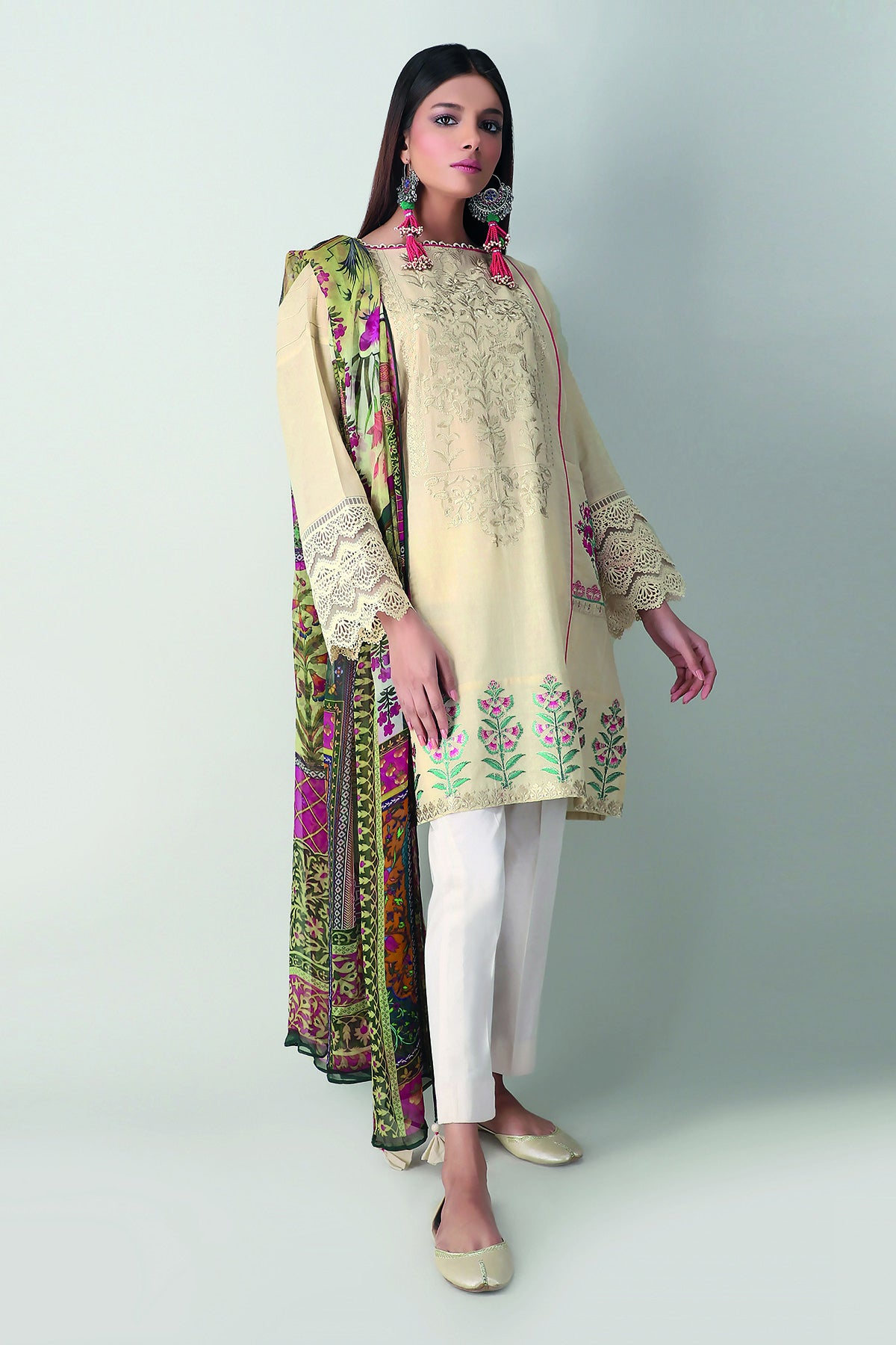 Khaadi Y21101 Off White Lawn Collection